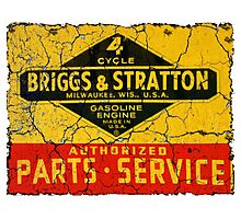 Briggs and Stratton vintage small engines. Photographic Print