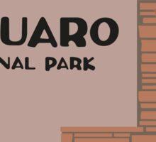 Saguaro National Park Sign, Arizona, USA Sticker