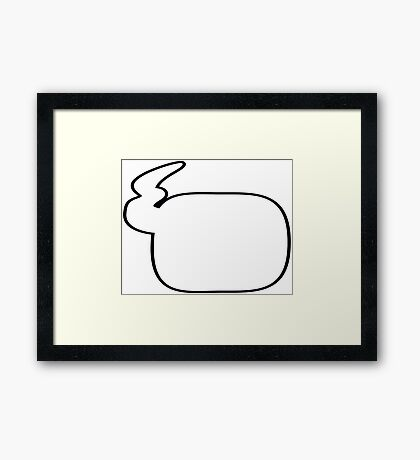 Speechless: Comic talk, Say what you want to say Framed Print