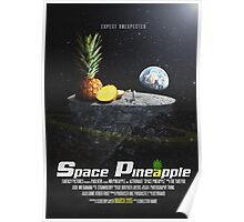 Space pineapple. Poster