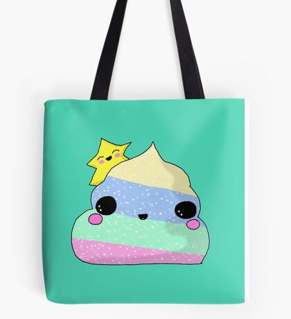 Kawaii Unicorn Poo  Tote Bag