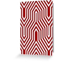 Art Deco Geometric - dark red Greeting Card