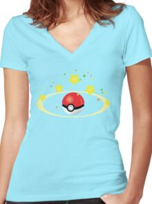 Pokemon Go- Catch one! Women's Fitted V-Neck T-Shirt