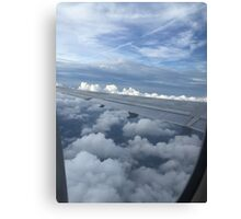 Clouds from a Plane Canvas Print