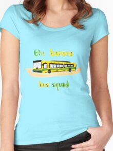 Banana Bus Squad Women's Fitted Scoop T-Shirt