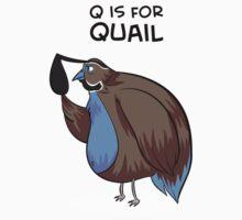 Q is for Quail Kids Tee