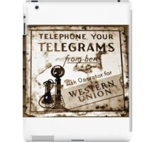 Vintage Western Union sign iPad Case/Skin