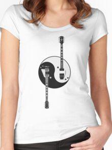 Guitar Yin Yang Women's Fitted Scoop T-Shirt