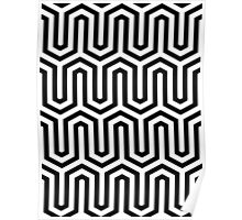 Egyptian motif - black and white Poster