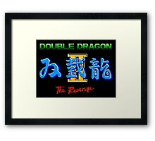 DOUBLE DRAGON II - NES CLASSIC Framed Print
