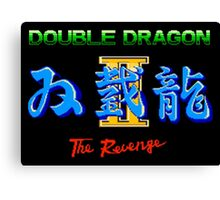 DOUBLE DRAGON II - NES CLASSIC Canvas Print