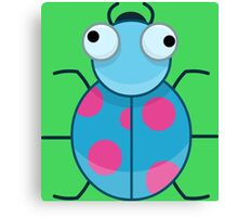 Funny Colorful Cute Little Bug Canvas Print