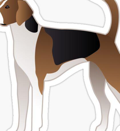 American Foxhound Basic Breed Silhouette Sticker