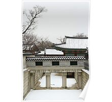 Snowy View of the Palace Poster