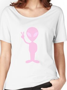 Lavender Alien Women's Relaxed Fit T-Shirt
