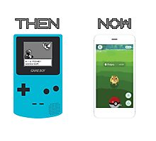 Then and Now - Pokemon Photographic Print