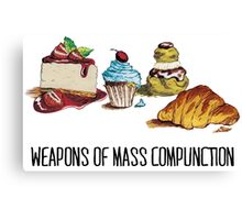 Weapons of mass compunction  Canvas Print