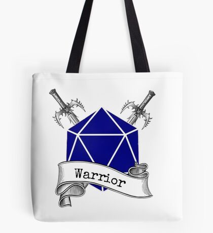 Warrior Dungeons and Dragons Tote Bag