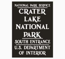 Crater Lake National Park Sign, Oregon, USA Baby Tee