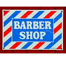 Old Barbershop sign Photographic Print