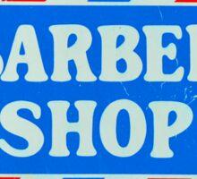 Old Barbershop sign Sticker