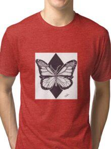 Dotwork Monarch Butterfly Tri-blend T-Shirt
