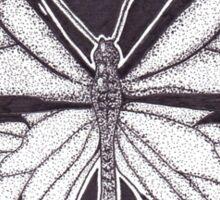 Dotwork Monarch Butterfly Sticker