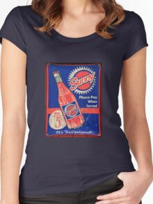 Antique Sunny soda sign Women's Fitted Scoop T-Shirt