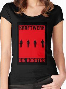 KRAFTWERK / Die Roboter Women's Fitted Scoop T-Shirt