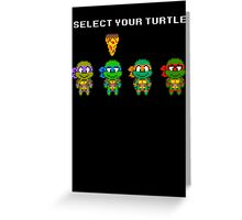 Select Your Turtle (Leonardo) - TMNT Pixel Art Greeting Card