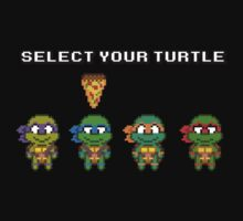Select Your Turtle (Leonardo) - TMNT Pixel Art by geekmythology