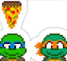Select Your Turtle (Leonardo) - TMNT Pixel Art Sticker