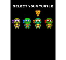 Select Your Turtle (Michelangelo) - TMNT Pixel Art Photographic Print