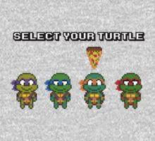 Select Your Turtle (Michelangelo) - TMNT Pixel Art Baby Tee