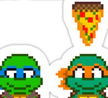 Select Your Turtle (Michelangelo) - TMNT Pixel Art Sticker