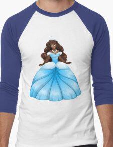 African Princess In Blue Dress Men's Baseball ¾ T-Shirt