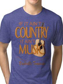 Nashville Country Music  Tri-blend T-Shirt