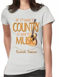 Nashville Country Music  Womens Fitted T-Shirt