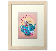 Teapot Mermaid Framed Print