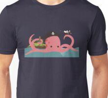 Kraken playing pirates Unisex T-Shirt