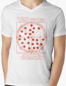 Leonardo da Vinci's Pizza  Mens V-Neck T-Shirt