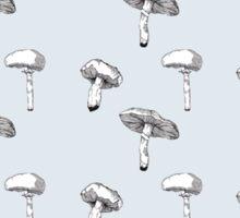 plain mushroom Sticker