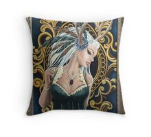 Lady of the Forrest Throw Pillow