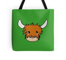 Kawaii Highland Cute Coo (Cow) Glasgow  Tote Bag