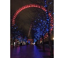 London Eye by Night Photographic Print