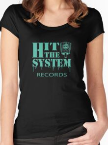 Hit The System - Teal  Women's Fitted Scoop T-Shirt