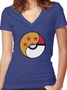 -GEEK- Pokemon X DBZ Women's Fitted V-Neck T-Shirt