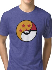 -GEEK- Pokemon X DBZ Tri-blend T-Shirt