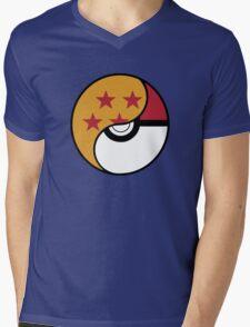 -GEEK- Pokemon X DBZ Mens V-Neck T-Shirt