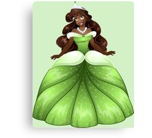 African Princess In Green Dress Canvas Print